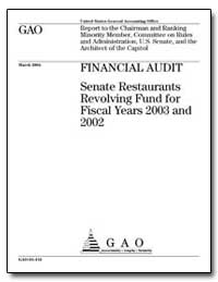 Financial Audit Senate Restaurants Revol... by General Accounting Office