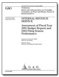 Internal Revenue Service Assessment of F... by White, James R.