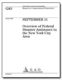 Overview of Federal Disaster Assistance ... by General Accounting Office
