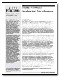 Some Pose Safety Risks for Consumers by General Accounting Office