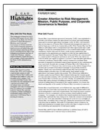 Greater Attention to Risk Management, Mi... by General Accounting Office