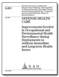 Defense Health Care Improvements Needed ... by General Accounting Office