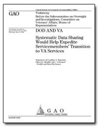 Dod and Va Systematic Data Sharing Would... by Bascetta, Cynthia A.