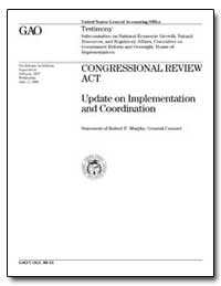 Congressional Review Act Update on Imple... by Murphy, Robert P.