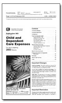 Child and Dependent Care Expenses by United States Department of the Treasury