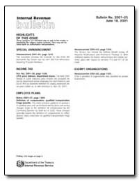 Internal Revenue Bulletin by United States Department of the Treasury