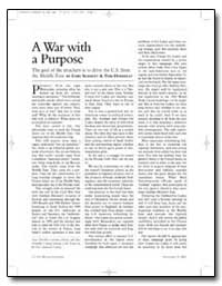 A War with a Purpose by Schmitt, Gary