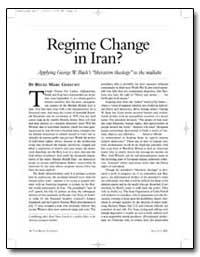 Regime Change in Iran by Gerecht, Reuel Marc