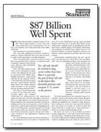 $87 Billion Well Spent by Kristol, William