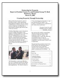Partnership for Prosperity Report to Pre... by United States Department of the Treasury