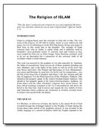The Religion of Islam by