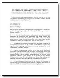 Pilgrimage Organizing Instructions in th... by