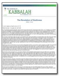 The Revelation of Godliness by Ashlag, Yehuda, Rabbi