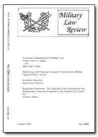 Military Law Review-Volume 110 by Boudreau, Debra L., Captain