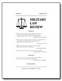Military Law Review-Volume 169 by Milliard, Todd S., Captain