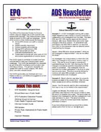 Ads Newsletter : Inaugural Issue by Department of Health and Human Services