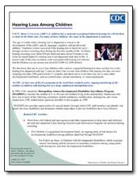 Hearing Loss Among Children by Department of Health and Human Services