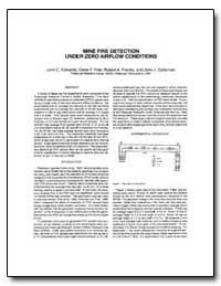Mine Fire Detection under Zero Airflow C... by Edwards, John C.