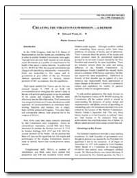 Creating the Stratton Commission-A Repri... by Wenk, Edward