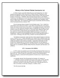 History of the National Marine Sanctuari... by
