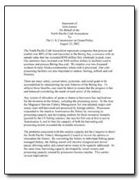 The U. S. Commission on Ocean Policy Aug... by Garner, John