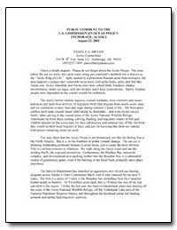 Public Comment to the U.S. Commission on... by Miller, Pamela A.