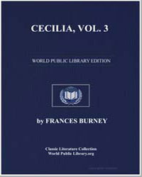 Cecilia : Vol. 3 Memoirs of an Heiress by Burney, Frances Madame D'Arblay