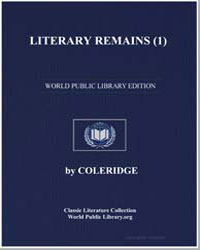 Literary Remains by Coleridge, Ernest Hartley