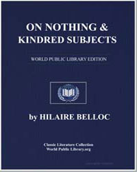 On Nothing and Kindred Subjects by Belloc, Hilaire