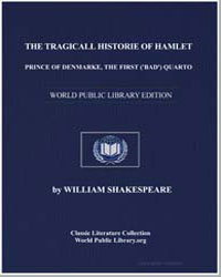 The Tragicall Historie of Hamlet, Prince... by Shakespeare, William
