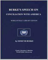 Burke's Speech on Conciliation with Amer... by Burke, Edmund