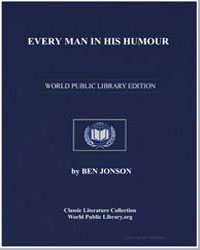 Every Man in His Humour by Jonson, Ben