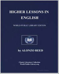 Higher Lessons in English by Reed, Alonzo