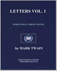 Letters Vol. 1 by Twain, Mark
