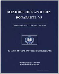 Memoirs of Napoleon Bonaparte, V9 by De Bourrienne, Louis Antoine Fauvelet