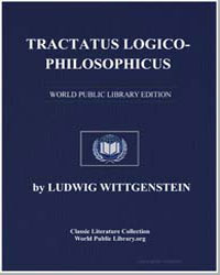 Tractatus Logico-Philosophicus by Wittgenstein, Ludwig