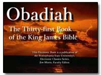 Obadiah the Thirty-First Book of the Kin... by