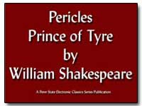 Pericles, Prince of Tyre by Shakespeare, William