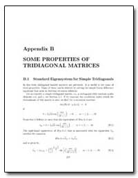 Appendix B Some Properties of Tridiagona... by