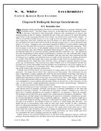 Chapter 8 : Radiogenic Isotope Geochemis... by White, W. M.