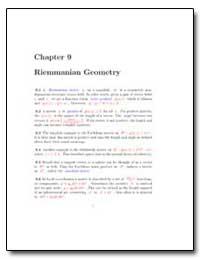 Riemannian Geometry by
