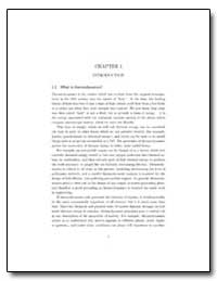 Chapter 1: Introduction, 1.1 What Is The... by