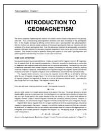 Introduction to Geomagnetism by