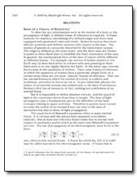 Relativity Basis of a Theory of Relativi... by