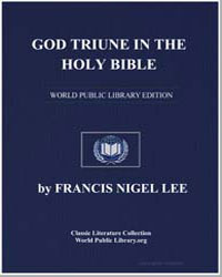 God Triune in the Holy Bible by Lee, Francis Nigel, Dr.