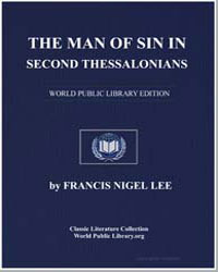 The Man of Sin in Second Thessalonians by Lee, Francis Nigel, Dr.