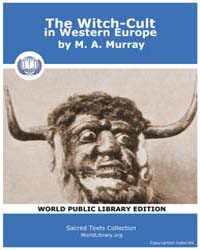 The Witch-Cult in Western Europe by Murray, M. A.