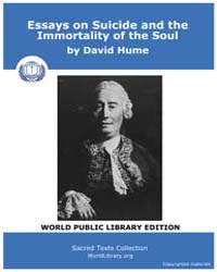 Essays on Suicide and the Immortality of... by Hume, David