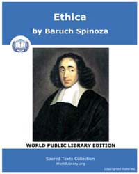 Ethica by Spinoza, Baruch