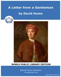 A Letter from a Gentleman by Hume, David